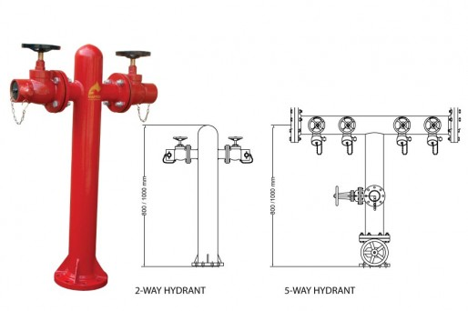 Product Wet Type Fire Hydrant Pedestal Type